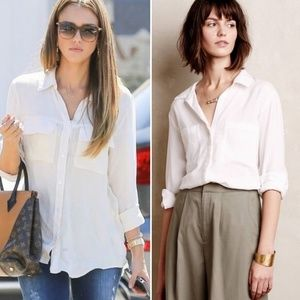 Cloth and Stone Lilith White Button Down Blouse